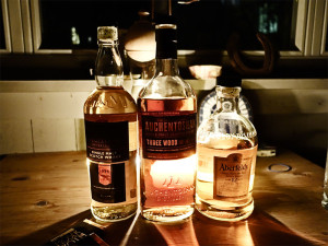 Macallan Speymalt 20 yrs, Auchentoshan Triple Wood, Aberfeldy 12 yrs